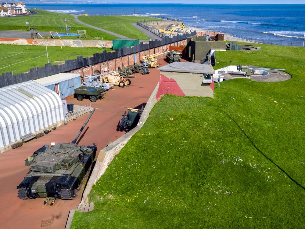 Heugh Battery Drone Pic Seas